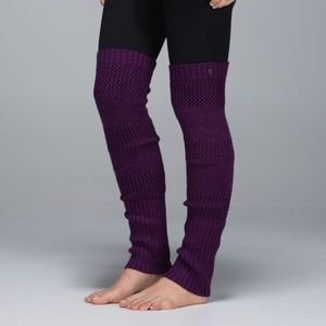 Lululemon Tip To Toe Leg Warmers in H. Berry Yum